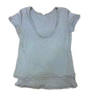 We the Free Layered Cotton Oversize Distressed Top